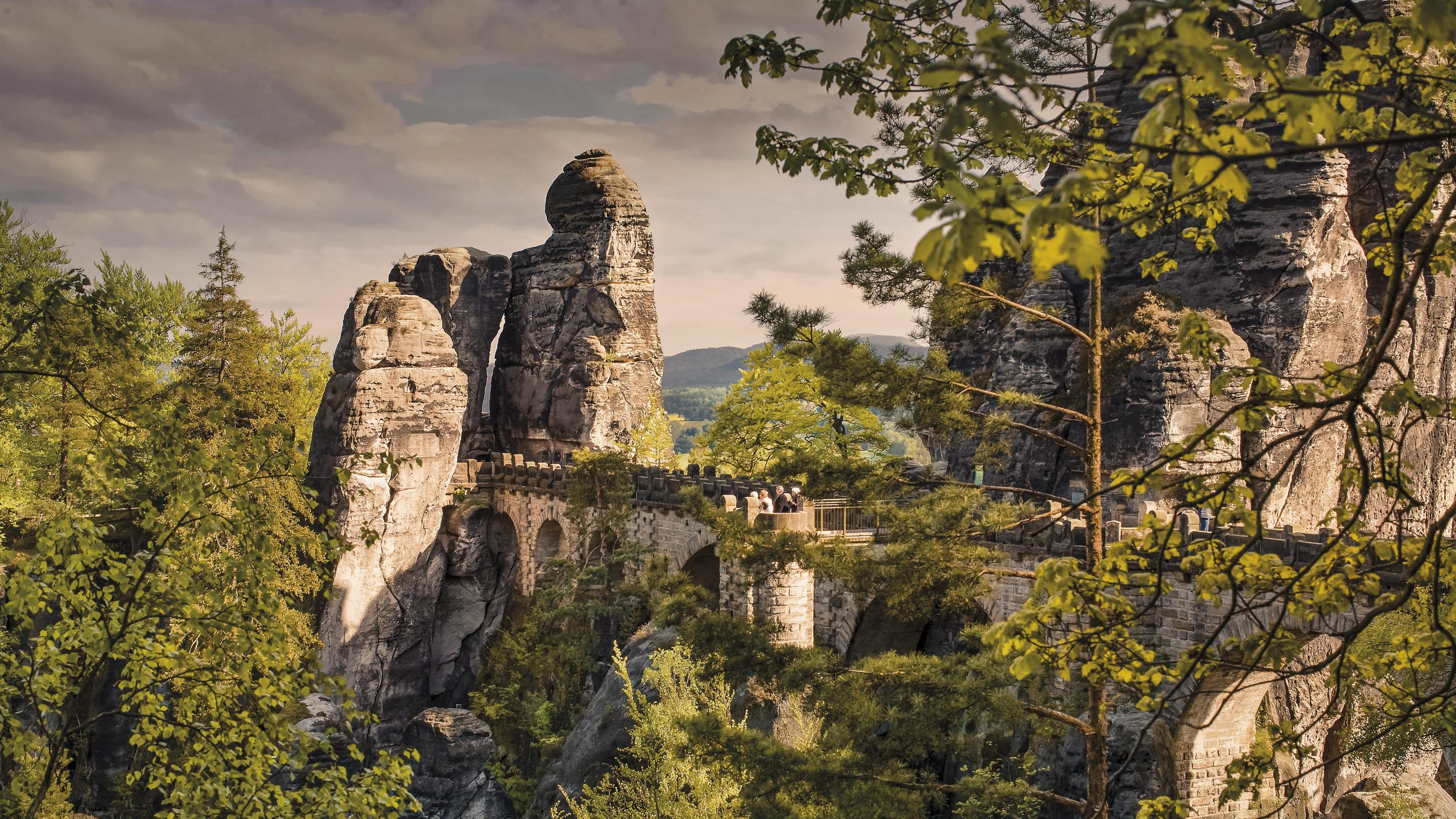 Aussicht auf das Elbsandsteingebirge